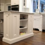 White kitchen island